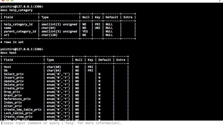 MySQL Console image1